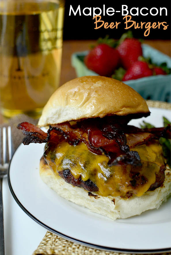 Maple Bacon Beer Burgers